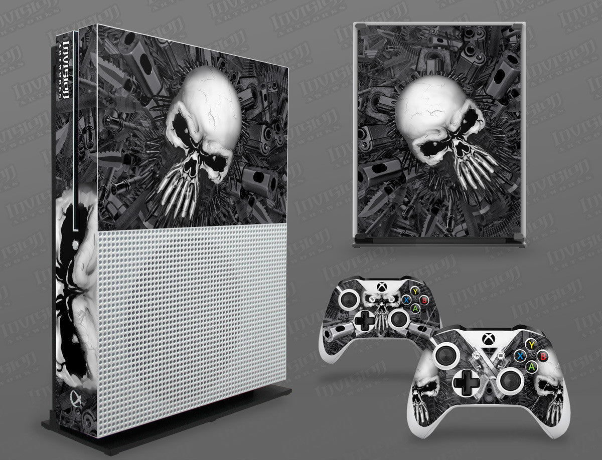 Skulls Xbox One S 16 Sticker Console Decal Xbox One Controller Vinyl Skin Faceplates, Decals & Stickers
