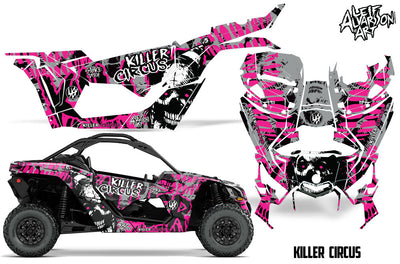 Killer Circus - Silver Background Pink Design