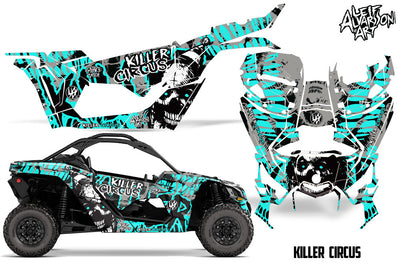 Killer Circus - Silver Background Tiffany Blue Design