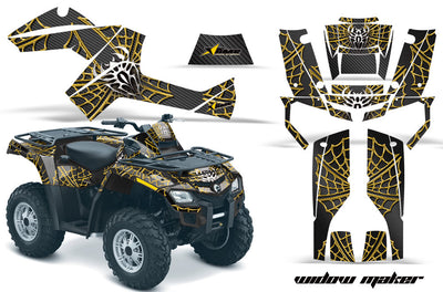 Widow Maker - Black Background Yellow Design