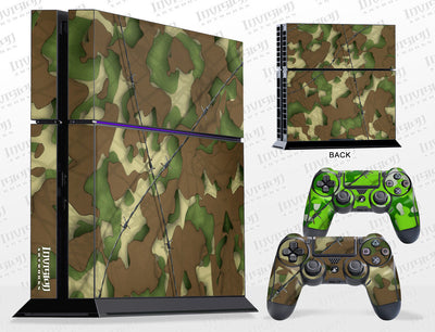 Sony PlayStation 4 Graphics - Console Skin with 2 Controller Skins - Camo