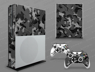 Xbox One S Graphics - Console Skin with 2 Controller Skins - Camo