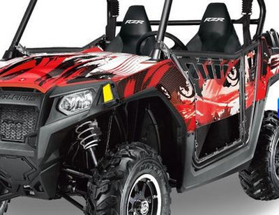 Carbon X in Red Design on a RZR800 2011