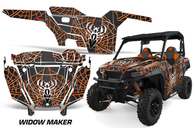 Widow Maker - Black Background Orange Design