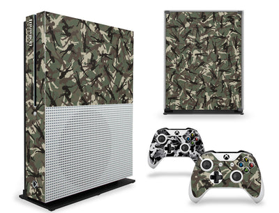 Xbox One S Graphics - Console Skin with 2 Controller Skins - Gun Girl Camo