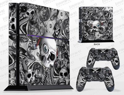 Sony PlayStation 4 Graphics - Console Skin with 2 Controller Skins - Head Creeps
