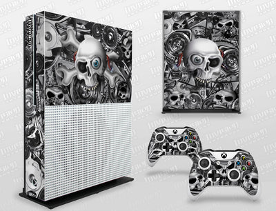 Xbox One S Graphics - Console Skin with 2 Controller Skins - Head Creeps