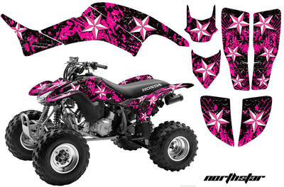 North Star - Black Background Pink Design