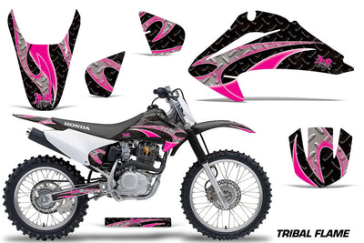 Tribal Flame Black Background Pink Design '03-'07