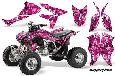 Skulls & Butterflies - Pink Background, White Design