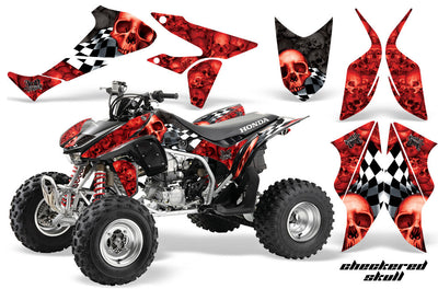 Checkered Skull - Red & Black Design