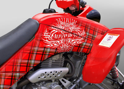 Invision Plaid - Red Design