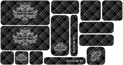 Plaid Sticker Set - Black Design
