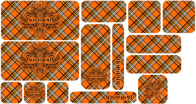 Plaid Sticker Set - Orange Design