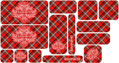 Plaid Sticker Set - Red Design