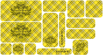 Plaid Sticker Set - Yellow Design