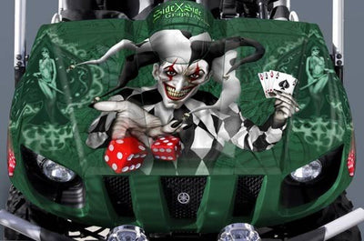 The Joker - Green Background, Black Design/Joker