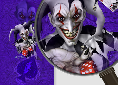 Joker - Purple Background Black & White Joker