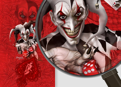 Joker - Red Background Black & White Joker