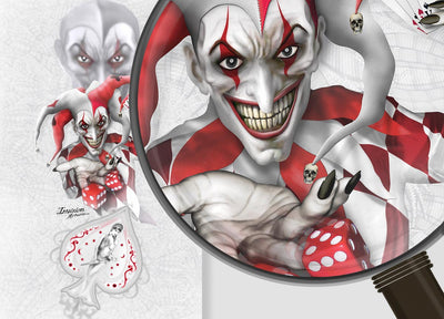 Joker - White Background Red & White Joker