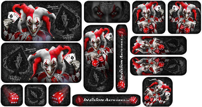Black Background, Red & White Joker