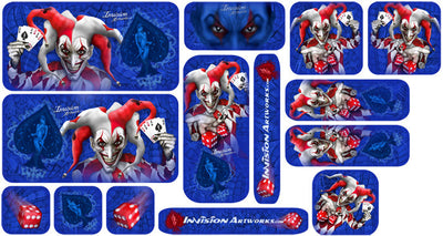 Blue Background, Red & White Joker