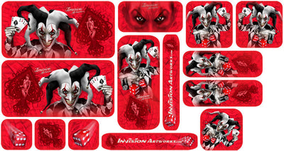 Red Background, Black & White Joker