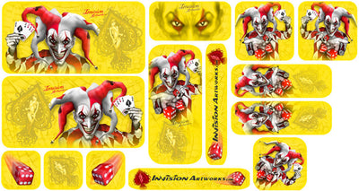 Yellow Background, Red & White Joker