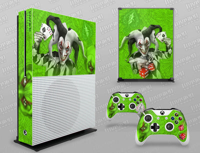 Xbox One S Graphics - Console Skin with 2 Controller Skins - The Joker