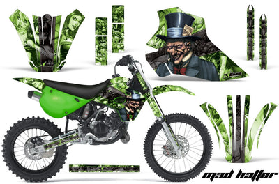 Mad Hatter - Green Background Black Design
