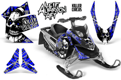 Killer Circus - Silver Background Blue Design