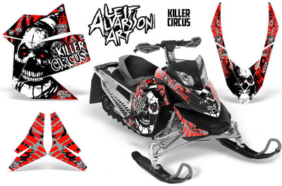 Killer Circus - Silver Background Red Design