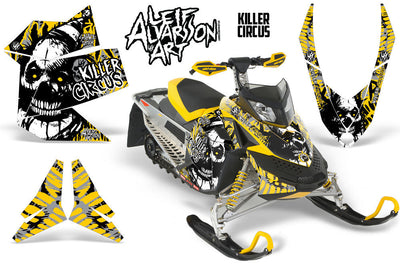 Killer Circus - Silver Background Yellow Design