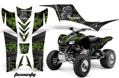 Toxicity - Green Background Silver Design