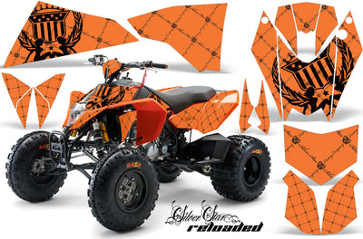 Reloaded - Orange Background, Black Design