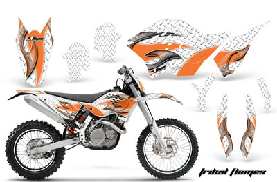 Tribal Flame White Background Orange Design