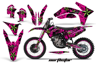 Northstar - Pink Background Green Design