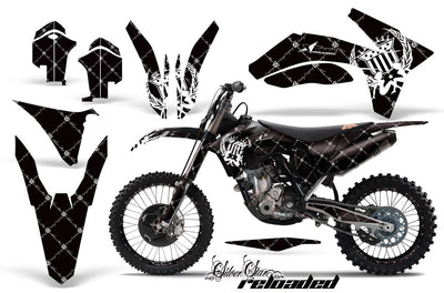 Reloaded - Black Background White Design