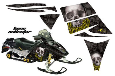 Ski Doo Rev '03-'09 Bone Collector Black Background (Yellow Rose by request)