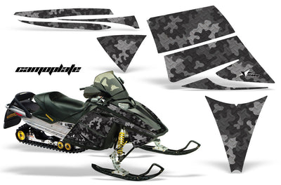Ski Doo Rev '03-'09 Camo Plate in Black Design