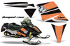 Ski Doo Rev '03-'09 Diamond Race Black Background Orange Design