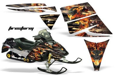 Ski Doo Rev '03-'09 Firestorm in Black Design