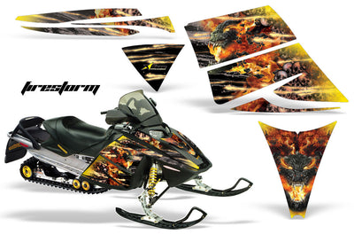 Ski Doo Rev '03-'09 Firestorm in Yellow Design