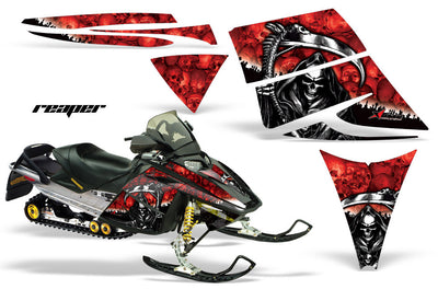 Ski Doo Rev '03-'09 Reaper Red Background