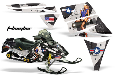 Ski Doo Rev '03-'09 Bomber in Black Design