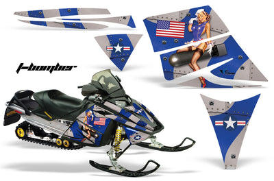 Ski Doo Rev '03-'09 Bomber in Blue Design