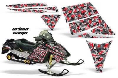Ski Doo Rev '03-'09 Urban Camo Girl in Red Design