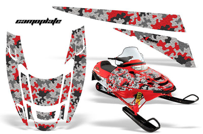 Camo Plate in Red Design