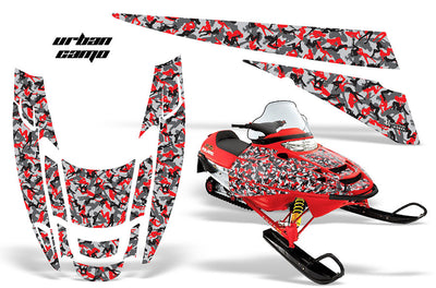 Urban Girl Camo in Red Design