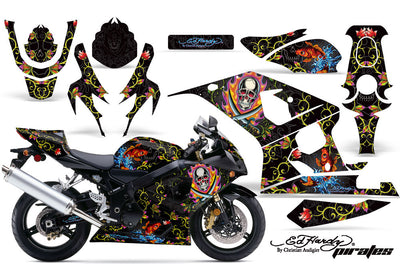 Suzuki GSXR 600/750 '04-'05 Pirates in Black Background